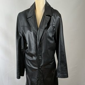 Wilson's Leather Long Leather Duster Trench Coat